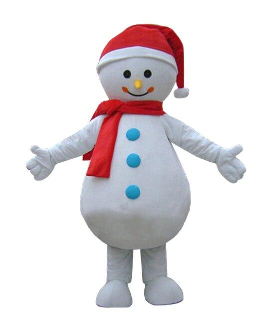 Cosplay costumes bonne qualité pas cher prix Eva tête éponge corps adulte bonhomme de neige mascotte Costumes pour noël