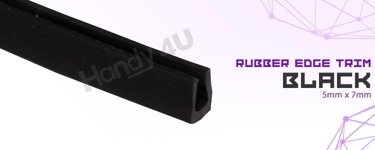 15ft Black Auto Rubber Seal PVC Edge Strip Trim Trunk Door Winow Lock Protective
