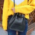 2016 mulheres novas cores doces balde saco pu mensageiro sacos de couro para Sacos Crossbody pequenas bolsas femininas bolsa de Ombro das Mulheres saco
