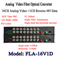 16CH digital Video Optical converter fiber optic video optical transmitter and receiver multiplexer 1CH +485 Data