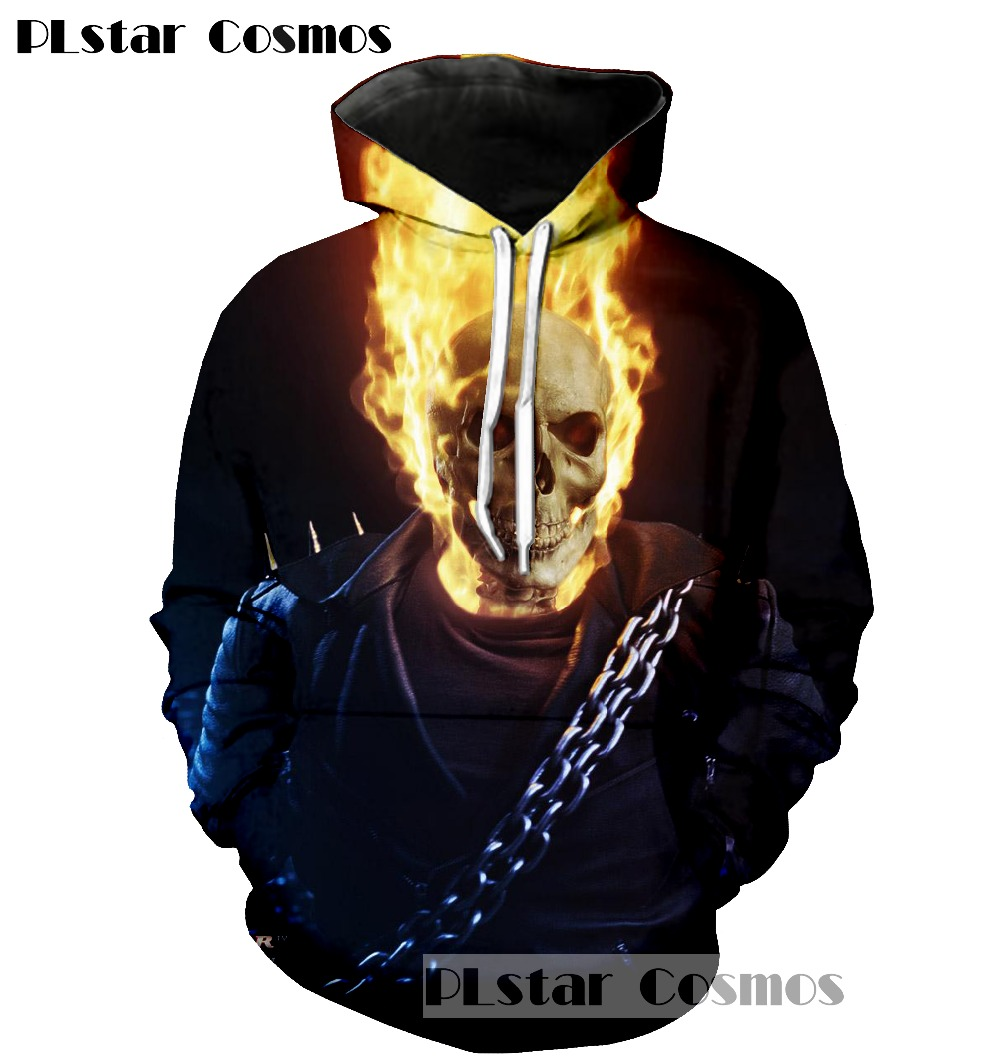 PLstar Cosmos 2017 The New Ghost Rider 3d Print Hoodie punk Women Men Sweatshirts Harajuku Outfits Casual Sweats Free shipping