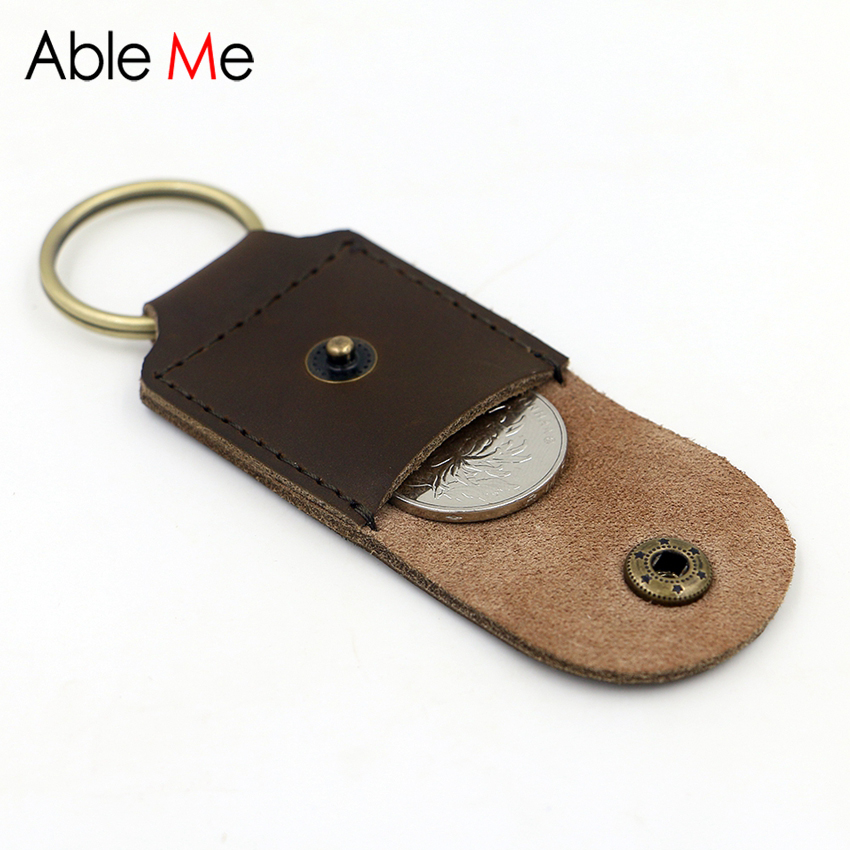 Small Coin Purse With Key Ring Stylish Mini Pouch For Coin Handmade Leather Men And Women Pocket Super Small Size acme studios master key ring kao50kr