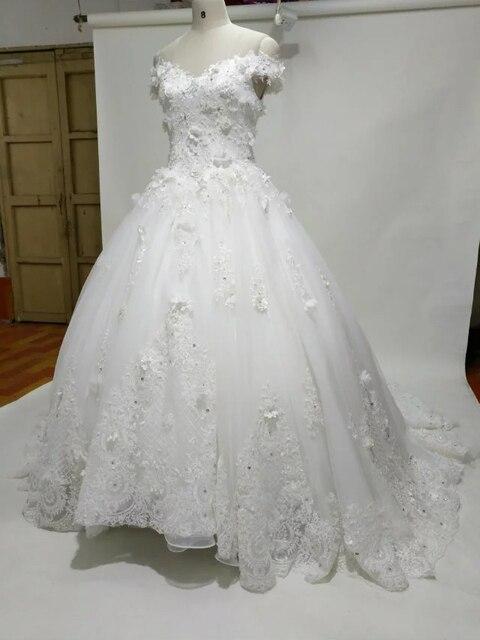 Imagen Real rebordeó appliues vestido de novia fotos reales de la ...