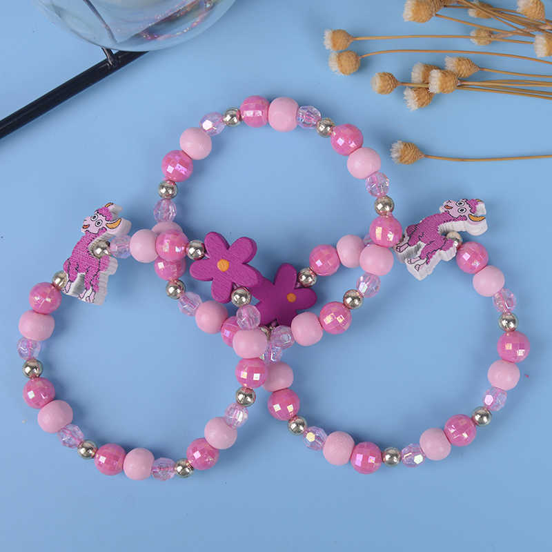 3pcs/SetCartoon Sheep Wood Beads Girls Jewelry Kids Children Bracelet