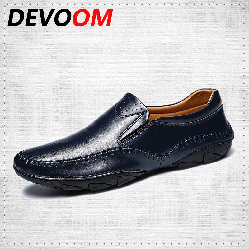 DEVOOM Mocassin Men Loafers Gommino Learther Shoes Brand Summer Fashion High Quality Genuine Leather Shoes Men Boat Casual shoe