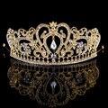 Rei coroa de Noiva Tiaras Coroas de Cristal Strass Rainha diadema Nupcial Acessórios Do Casamento Headpiece Headband Tiara de Casamento