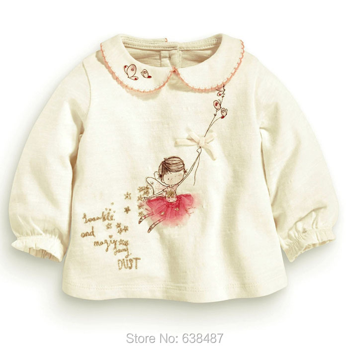 New 2018 Brand Quality Girls T-shirts 100% Cotton Baby Girl Clothes Long Sleeve Children Clothing Bebe Blouse Kids t Shirts Girl