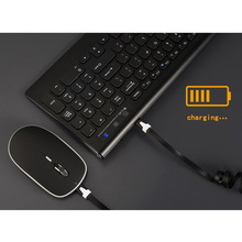 New Optical Wireless Keyboard + Mouse Combos 2.4G Rechargeable Fit For Laptops Tablet PC Computer XXM8