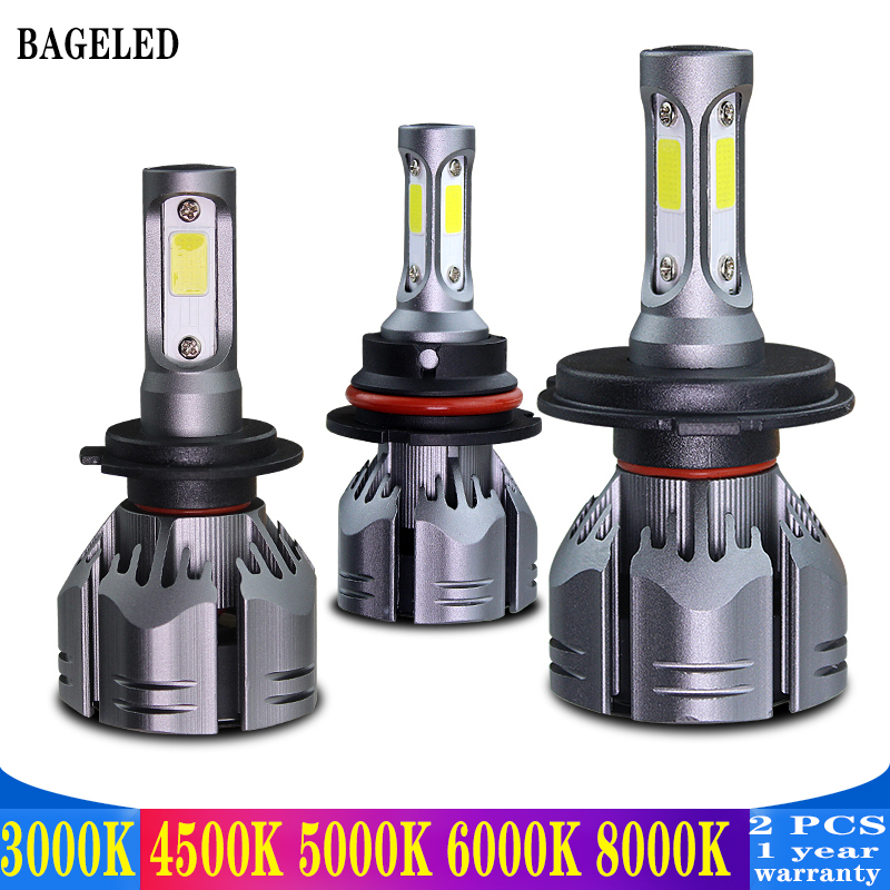 BAGELED H3 Car Lights H4 LED H7 9003 HB3 H11 H1 H3 H8 H9 880 9005 9006 H13 9004 9007 Auto Headlights 12V Led Light