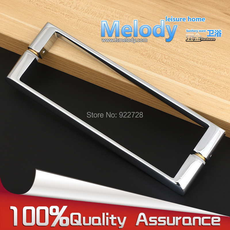 H011 Bath room shower screen glass door handle zinc alloy Chrome finished C-C 200mm zinc alloy arc bottom hanging folders small kitchen shower glass door folder