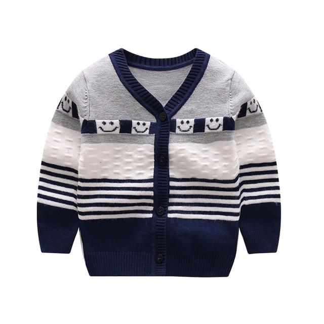 154b5320bd2e Soft Knitting Baby Sweater Striped Newborn Girls Sweaters Cotton ...