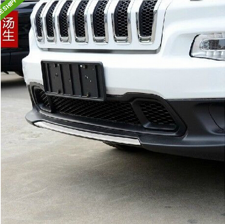 JIOYNG 1PCS Front Bumper Protector Guard Lid Molding Cover Trim For JEEP Cherokee 2014 2015 2016 2017