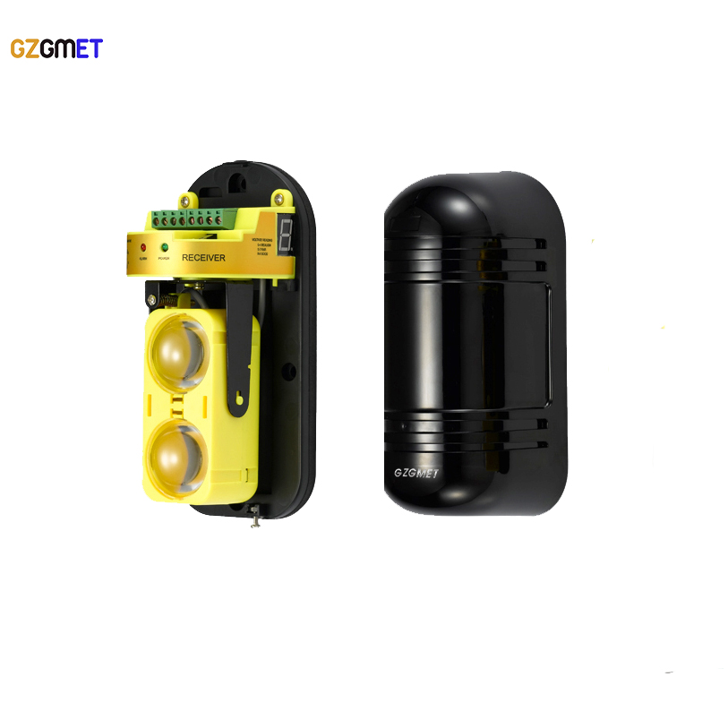 GZGMET New Design  Fence  IR Sensor Window Outdoor Photoelectric Dual Beam Perimeter Active Infrared Barrier Detector Beam universal 3 in 1 clip on wide angle fisheye macro lens set for iphone htc samsung silver