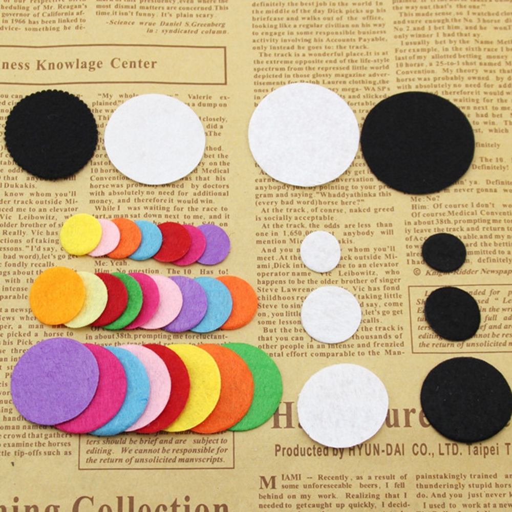 200pcs Artificial Non Woven Felt Fabric Round Felt Eco-Friendly Cloth Felts DIY Bundle For Sewing Dolls Scrapbook Patches Crafts(China)