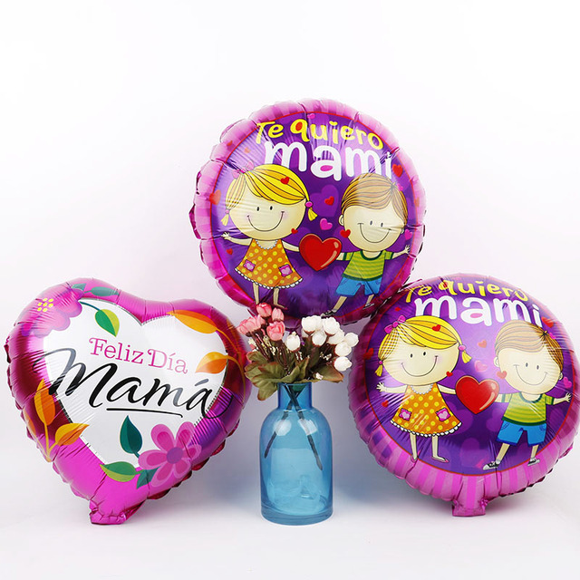 18inch Mama Foil Balloons 50pcs Te Quiero Mami Happy Mothers Day