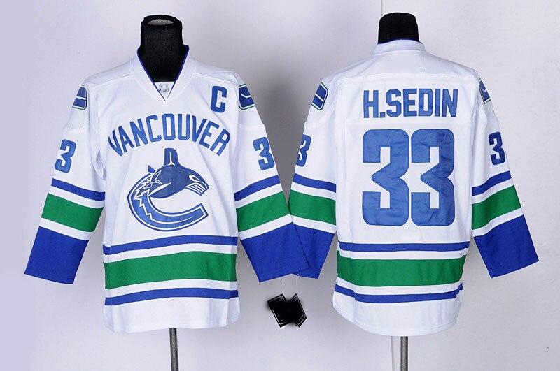 ... czech for sale cheap vancouver canucks ice hockey jerseys 33 henrik  sedin jersey blue white black 6a8949caa