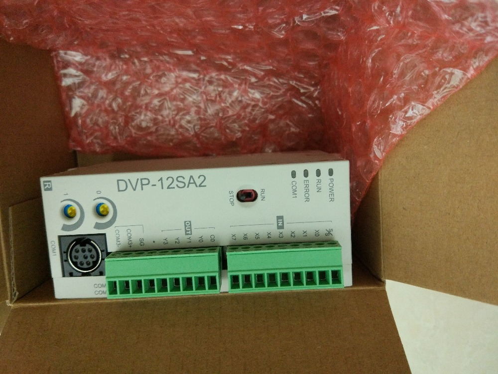 DVP12SA211R Delta SA2 Series Advanced PLC DI 8 DO 4 Relay 24VDC new in box fbs 8yr fatek plc 24vdc 8 do relay module new in box
