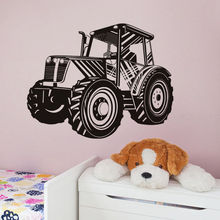 Transport Home Decor Wall Stickers Tractor Art Wall Decal for Boys Room Removable Wallpaper New Arrivals Wall Tattoo SA561