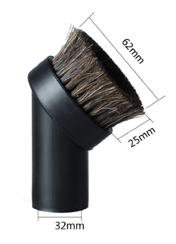 Round Vacuum Cleaner Attachment Dusting Brush Tool Replacement 1.25 1-1/4 32mm vacuum cleaning kit attachement kit dusting dusting brush nozzle crevices tool upholster tool for 32mm