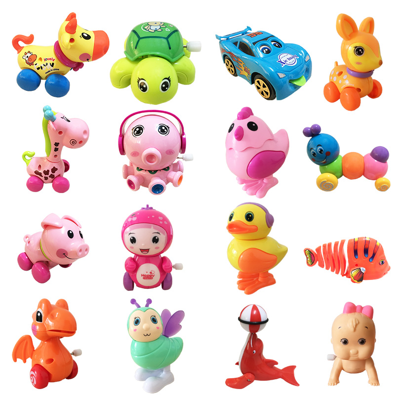 Wind Up Toys For Kids Pull Back Run And Jump Toy Pig/Giraffe/Caterpillar/Duck/Sika Deer/Tortoise