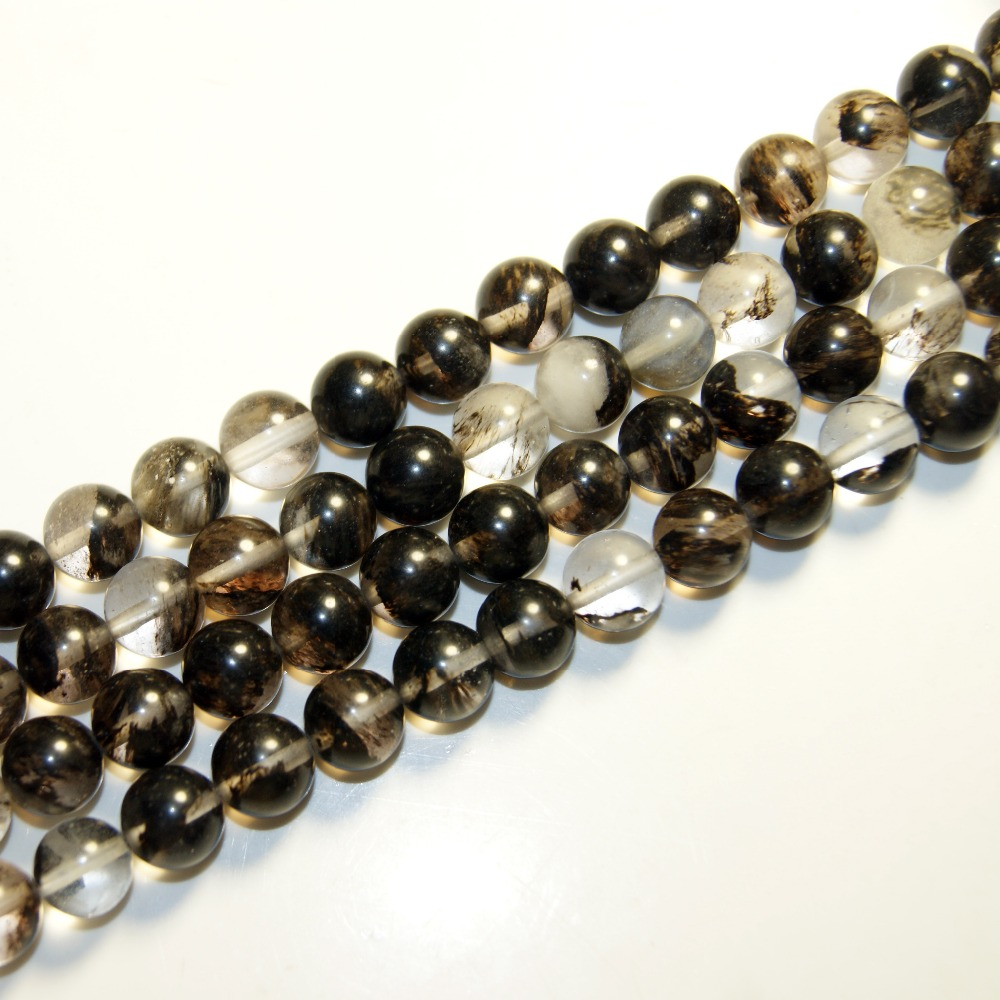 wholesale round crystal black beads for jewelry making