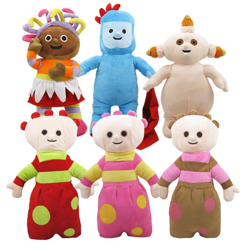 18 pulgadas de altura bonitos juguetes de peluche y peluche muñecas en el jardín nocturno 6 artículos por juego/lote envío gratis-in Muñecas from Juguetes y pasatiempos    1