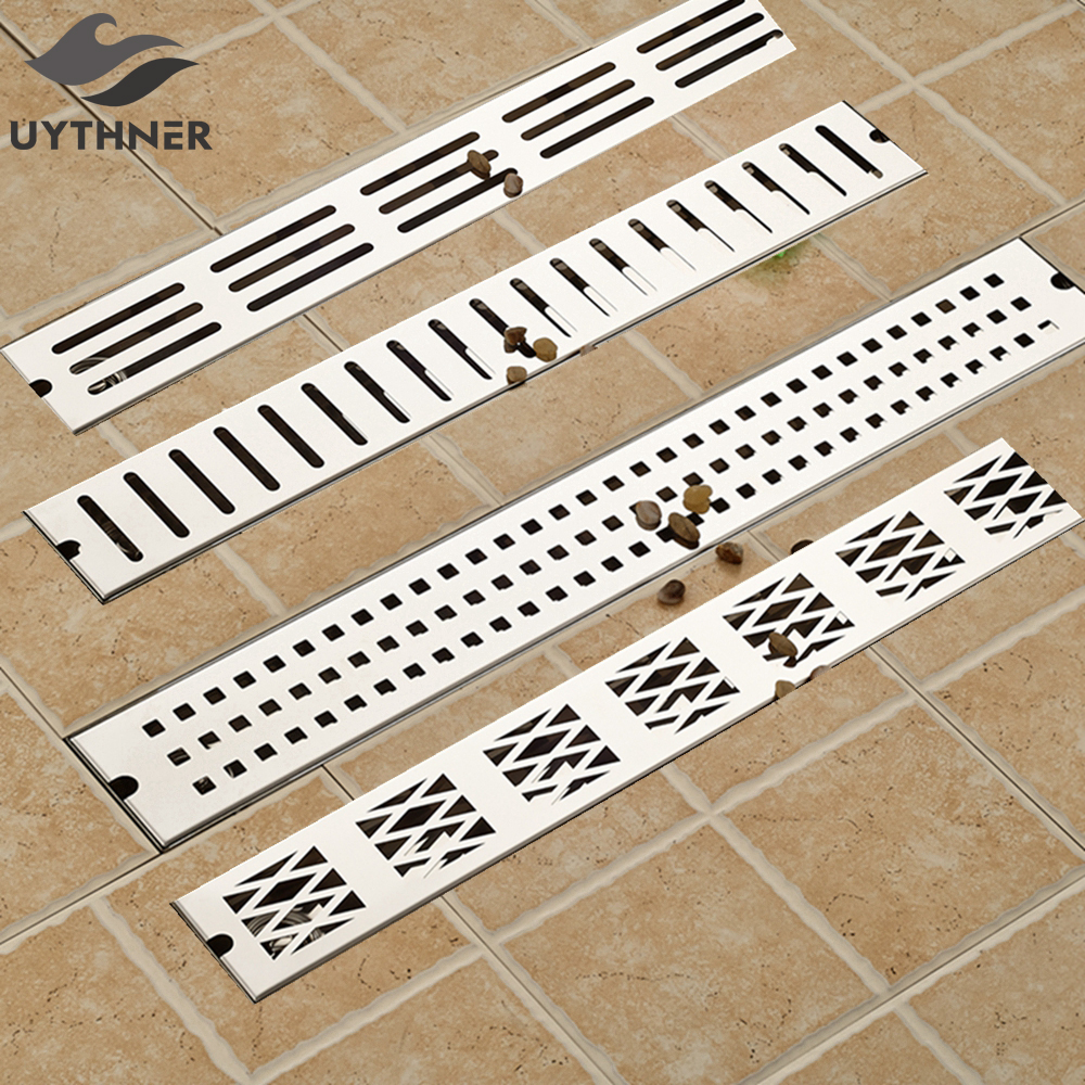 Newly Arrival Polish Chrome 70 10cm Stainless Steel Deodorant Sealing Bathromm Shower Rectangle Floor Drain