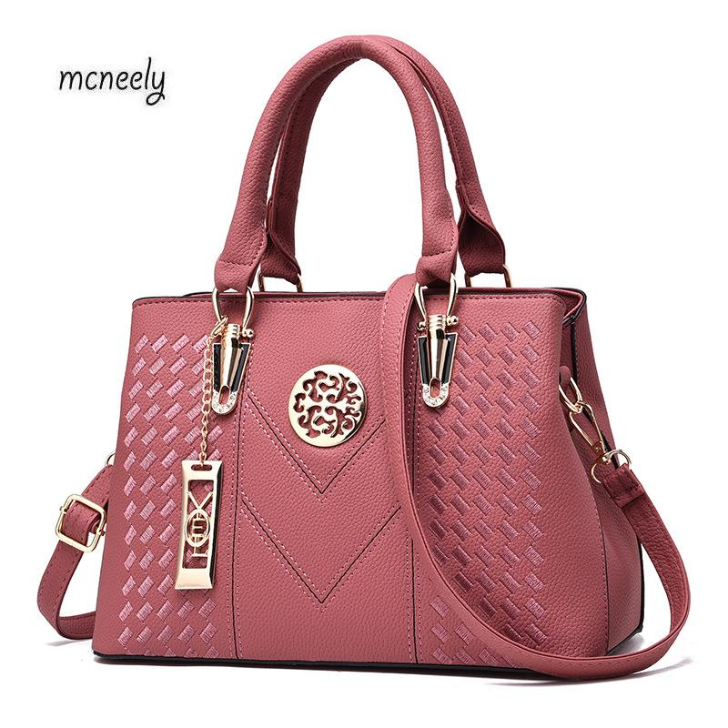 Hot Sale Female PU Leather Tote Handbag Fashion  Messenger Bag Women Shoulder Bag Larger Top-Handle Bags Travel Bag hot sale evening bag peach heart bag women pu leather handbag chain shoulder bag messenger bag fashion women s clutches xa1317b