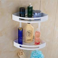 Wall Mounted White/ Black Oil Brushed/Gold/Chrome Bathroom Soap Basket Bath Shower Shelf Soap Basket Holder building materia