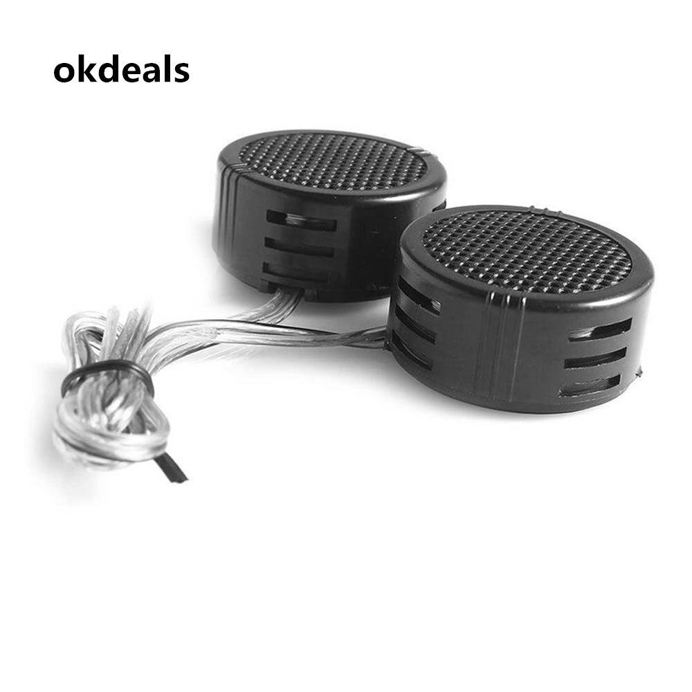 NEW Useful 2pcs Fashion 500W Black Pop Loudspeaker Tweeter Speaker High Frequency Speaker for Cars HOT Gifts