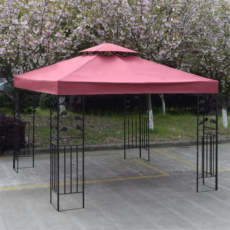 10' X 10'  2-Tier Canvas Yard Tent Canopy Top Roof Cover Patio Sun Shade Cloth Shade Accessories Replacement Garden Supplier