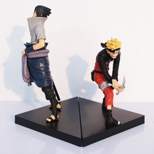 2pcs Set Naruto+Uchiha Sasuke PVC Action Figure Toy