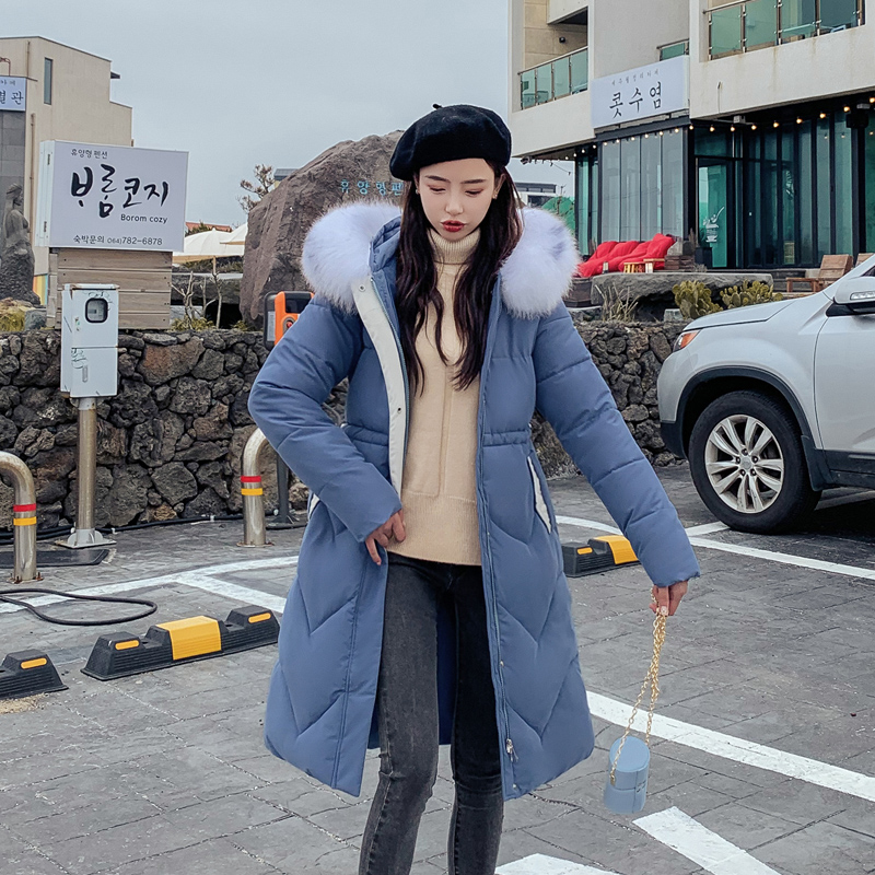 KUYOMENS Women Winter Black Down Jacket Coat Casual Women Parkas Warm Clothing Long Female Hooded Winter Parka Coats in Parkas from Women 39 s Clothing