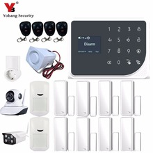 Yobang Security Wireless Wifi GSM IOS/Android APP Remote Control LCD GSM SMS Burglar Alarm System For Home Security