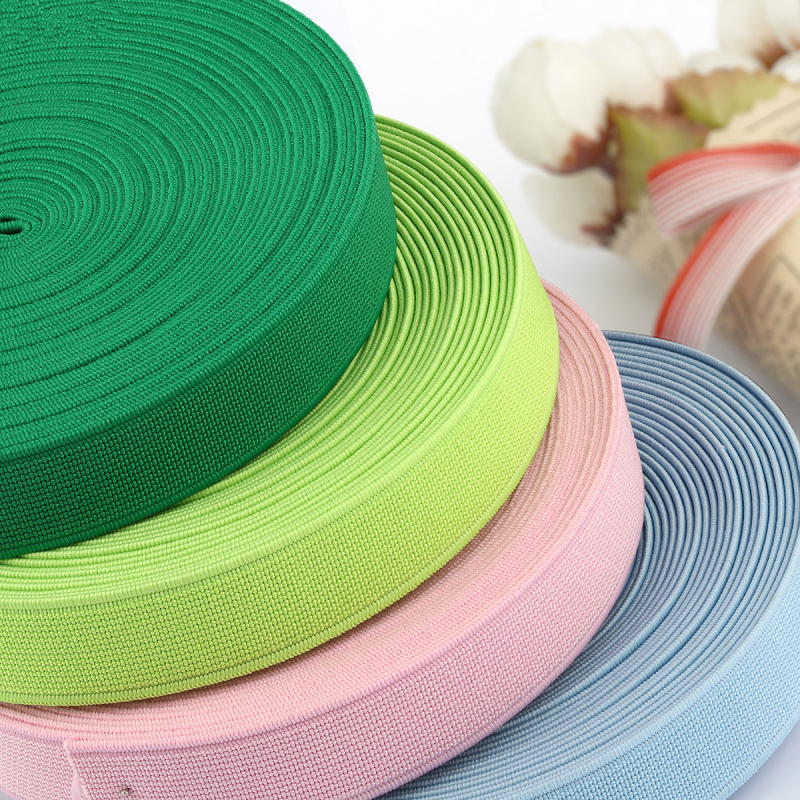 Per Metre 25mm Wide Anise Green Woven Ribbon Elastic