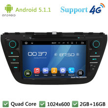 Quad Core 8″ 1024*600 Android 5.1.1 Car DVD Player Radio Screen USB FM DAB+ 3G/4G WIFI GPS Map For Suzuki S-Cross SX4 2014-2017