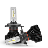 2Pcs/Lot ZES Lamp Beads Light H4 H7 H11 9004 9005 LED Headlight Bulb Conversion Kit, 6500K LED 8000lm Cool White Headlamp ,Black