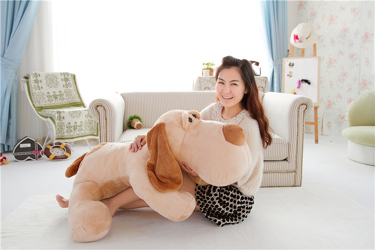 large 120cm brown prone dog plush toy doll,soft throw pillow,birthday gift Xmas gift d2500
