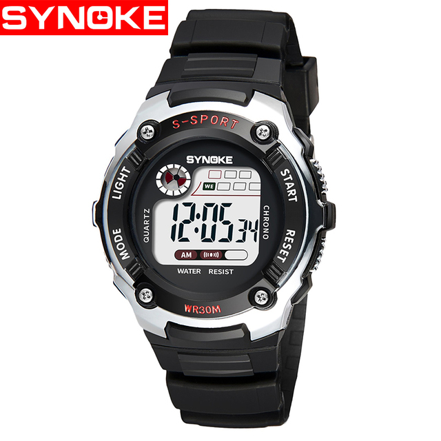 SYNOKE NEW Digital Children Watch Electronic Child Sport Wrist Watch Digital-wat