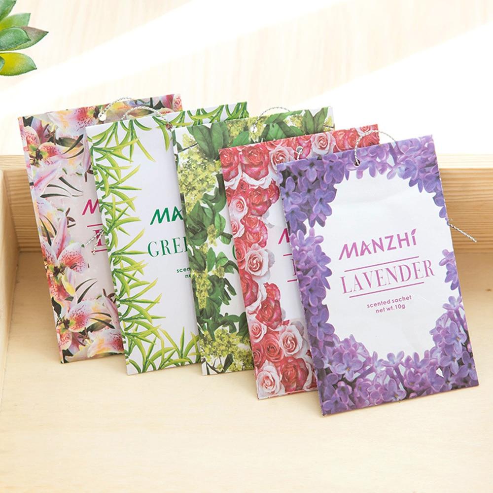 1pcs 8 Fragrances Natural Hanging Spices Wardrobe Aromatherapy Bag Air Fresheners Fragrant Flavor Bag Cabinet Spice Pockets