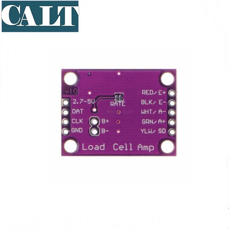 High Precision  Load Cell Amplifier Board Electronic Scale Weighing Sensor 24 Bit AD Conversion Adapter HX711 Purple