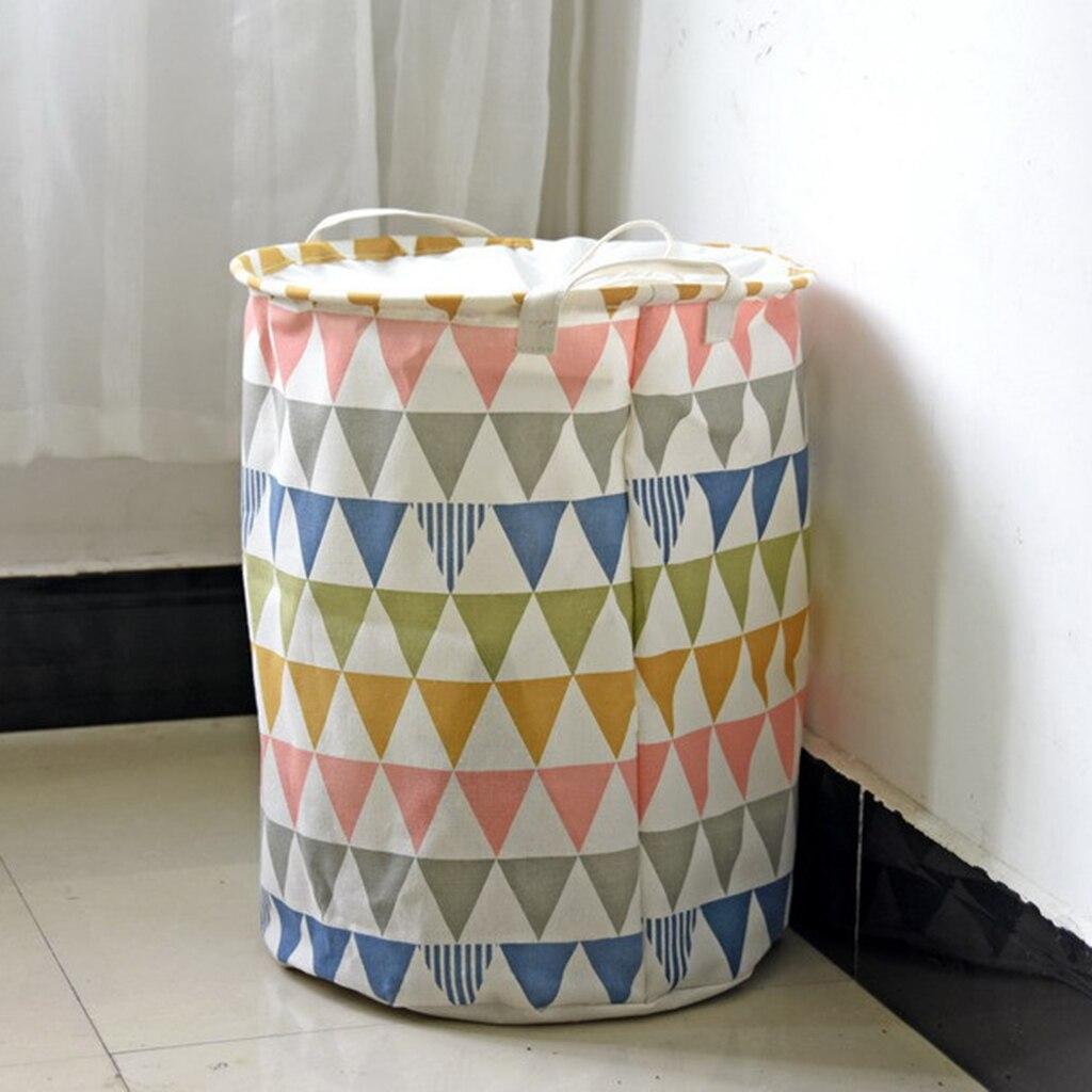 Складной завязки корзина для хранения прачечного игрушки одежда bin мешок 35x45 см ...
