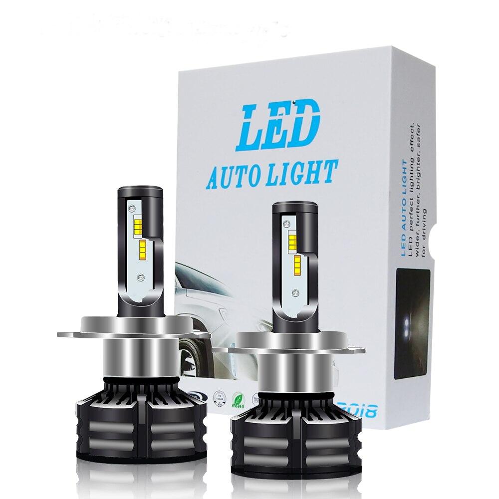 2 pièces H4 LED H7 LED H1 H3 H8 H11 9005 HB3 9006 HB4 9007 3000 K 4300 K 6000 K 60 W 10000LM Voiture Lumière Phare Automatique avec ZES Puces