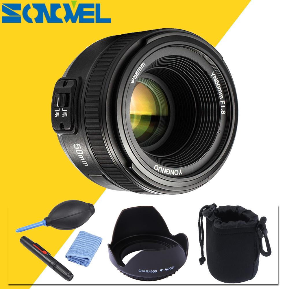 Camera Lens YONGNUO YN50mm F1.8 MF YN 50mm f/1.8 Objectif AF YN50 ouverture Auto Focus pour NIKON D7500 D7200 D5600 D5200 D750 D500 D5