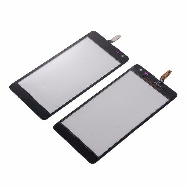 新しいタッチスクリーンマイクロソフトノキア Lumia N535 535 2C 2 S ハウジング黒スクリーンデジタイザパネルガラス