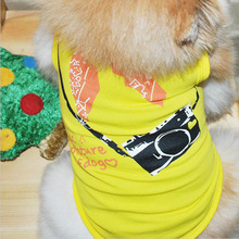 Lovely Camera Dogs Vest Cotton clothes