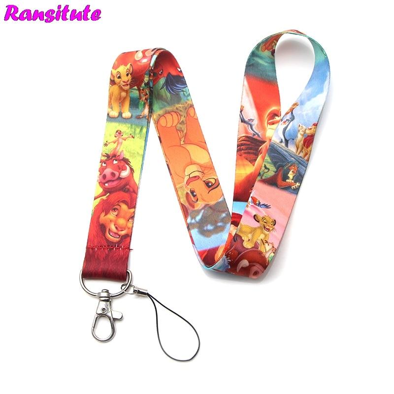 Ransitute R331 cartoon animals keys ID Card Gym Mobile Phone Straps USB badge Holder DIY Phone Hang Rope Lanyard