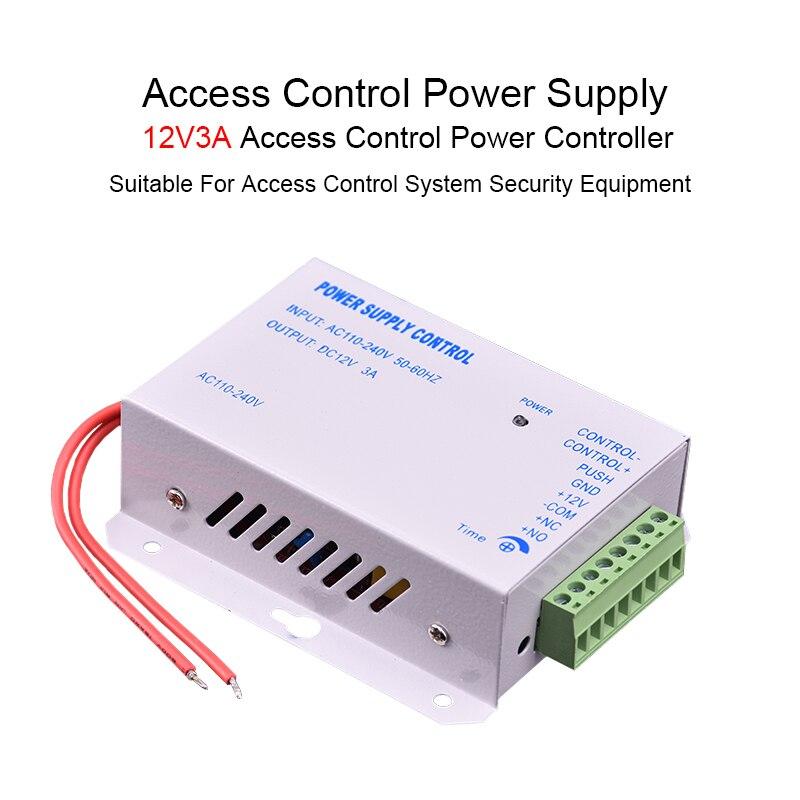 Eseye Access Control Power Supply DC 12V 3A RFID Door Access Control System AC 110-240V High Quality Machine
