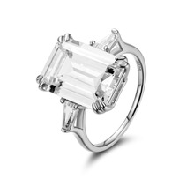 купить Luxury 5.9ct Created Emerald Cutting Ring 100% Real 925 Sterling Silver Rings for Women Fine Jewelry Accessories по цене 2301.74 рублей