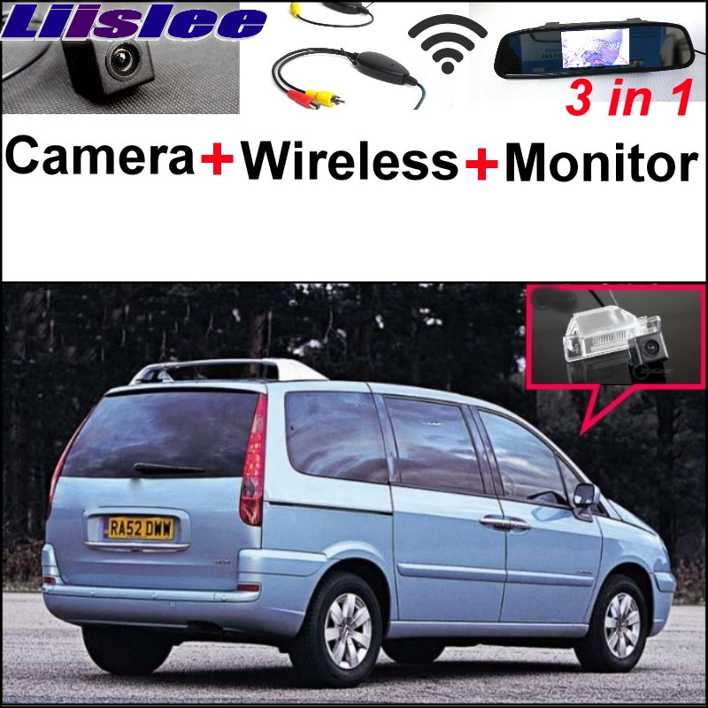 Liislee 3 in1 Special Camera + Wireless Receiver + Mirror Monitor Easy DIY Back Up Parking System For Citroen C8 MK2 2002~2016 3 in1 special rear view camera wireless receiver mirror monitor back up parking system for citroen ds3 ds 3 2009 2015